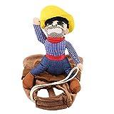 NIBESSER Hund Kostüm Lustige Cowboy Reiter Kleidung Hunde Outfit Ritter Stil Kleidung mit Puppe und...