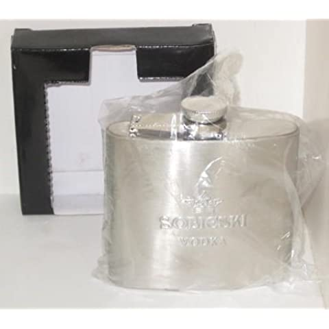 Sobieski Vodka Stainless Steel Hip 5oz Flask by (Sobieski Vodka)