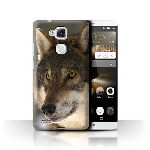 eSwish Hülle/Case für Huawei Ascend Mate7 / Jagdbeute Muster/Wildes Tier Raubtier Wolf Kollektion