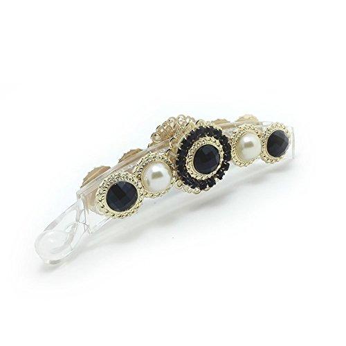 meilliwish-noble-flower-pearl-banana-hair-clip-h48black