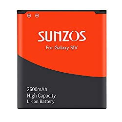 Sunzos Akku Für Samsung Galaxy S4 Gt-i9500 Gt-i9505 Gt-i9506 Ersatz Eb-b600be (2600mah)