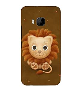 FUSON Cute Baby Lion 3D Hard Polycarbonate Designer Back Case Cover for HTC One M9 :: HTC One M9S :: HTC M9