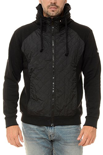 M.Conte Sweat Sweatshirt Jacket Uomo Sport Giacca Felpa Ricardo nero XXL