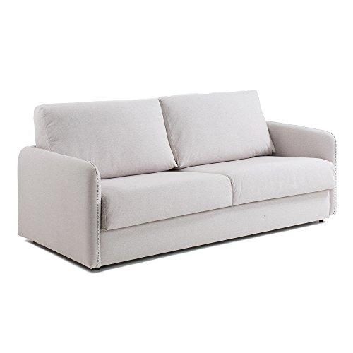 Kavehome Sofá cama Kymoon 160 viscoelástico, beige