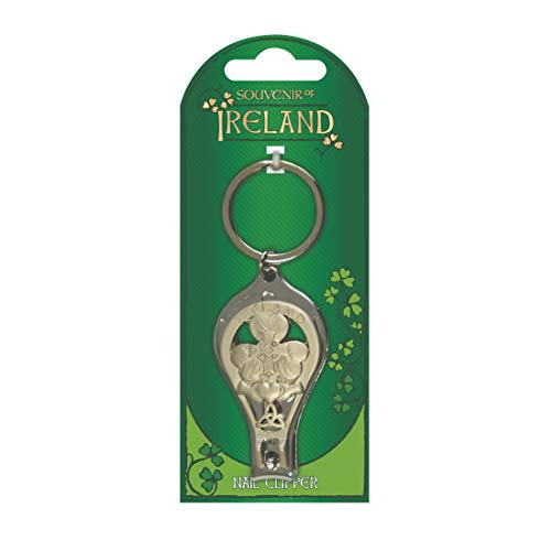Souvenir Of Ireland Metal Nail Clippers & Bottle Opener With Irish Symbols -