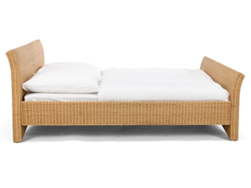 massivum Bett Nivada 140x200cm Rattan braun lackiert - 4