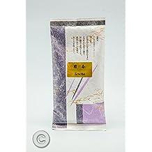 Te Verde Sencha Premium. El Té Verde japonés de Uji. Sencha de cuidada selección de sabor suave. Sencha Tea, envasado en la plantación y presentado en bolsa de papel de arroz y seda japonesa de 100 g