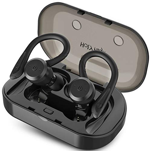 Holyhigh Auricolari Bluetooth Sport Bluetooth 5.0 Cuffie Bluetooth IP67 Impermeabile 26 Ore Playtime In Ear Cuffie Bluetooth Senza Fili con Custodia di Ricarica Micro per la Corsa Gym per iOS Android