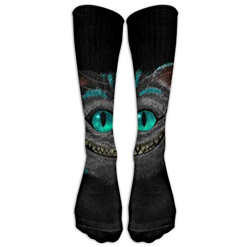 Cat Einfach Cheshire Kostüm - deyhfef Cheshire-Cat-Alice-in-Wonderland Compression Socks Comfortable Breathable and Stylish Calf Socks Athletic