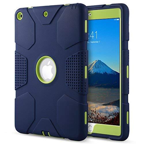 Menta Verde Gris Dailylux Funda iPad 9.7 Pulgada 2017//2018,Protecci/ón Esquina choques Amplificaci/ón Sonido Protecci/ón Alta Resistencia Protector Incorporado Pantalla para iPad 9,7