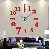 diccit Mode stumm runde Form Quarz Wanduhr Aufkleber Startseite dekorative Uhr Wanduhren