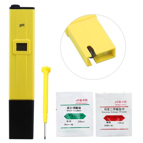 SODIAL(R) Medidor Digital PH Acuario piscina tester 0.0 - 14.0 pH