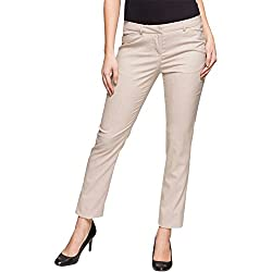 Arrow Woman Relaxed Synthetic Pants (AWUTR0051_Beige_32)