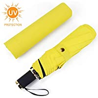 IEOKE Compact Umbrella, Travel Umbrella Windproof Umbrella With Sleeve Auto Open/Close Foldable Lightweight for easy carry-8 Ribs