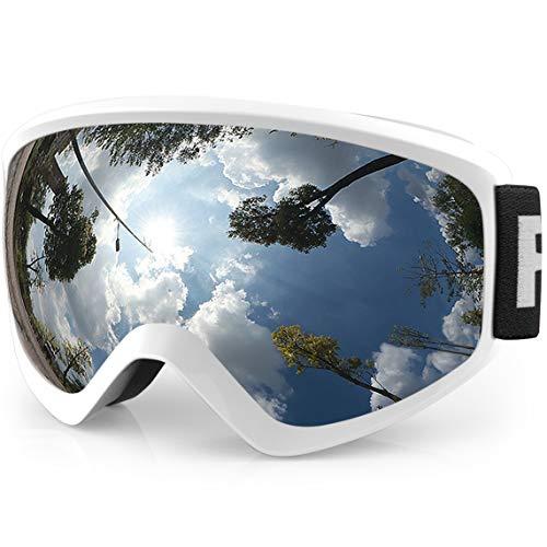 findway Skibrille Kinder,Ski Snowboard Brille Brillenträger Snowboardbrille Schneebrille Verspiegelt für Junior Jungen Mädchen Teenager-3 4 5 6 7 8 9 10 11 12 13 14 Jahre - OTG 100{cebe0673e0701791145d70b758d875e86ca01e5bc5410a1384ba942013b2ed38} Anti-UV Anti-Fog