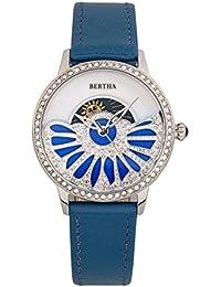 51d0686d2aad Bertha Adaline BTHBR8200 - Reloj de Cuarzo con Esfera de Cuero auténtico