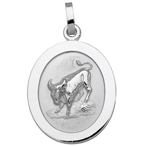 Basic Silver SZ105 Men 925 Sterling Silver Zodiac Sign Taurus Pendant
