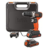 Black+Decker Drill Driver 18V + 2 x 1.5Ah Battery, BCD001C2K-GB