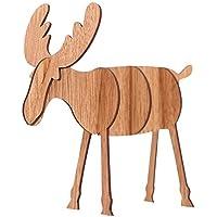tingtin De Madera Elk Puzzle Mesa De Navidad De DIY Decoración Mini Ciervos Adorno De Navidad Prop Roble, L
