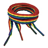 Big Laces Flat Laces - Rainbow Shoelaces - 10mm Wide - 90cm to 210cm Long