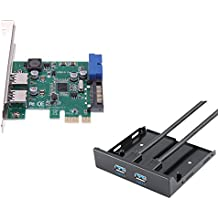 4 Port USB 3.0 PCIE PCI Express Control Card Adapter+20pin to 2 port usb3.0 hub 3.5 Floppy bay Front Panel