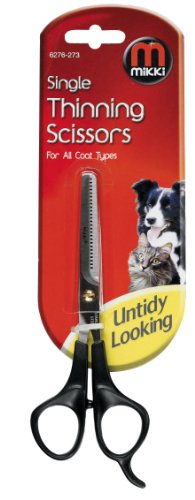 Mikki Grooming Single Thinning Scissors for All Coats 1