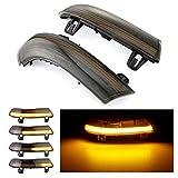 PSOIHGTFS Spiegel Blinker Licht, Dynamisches Blinker LED Blinker Licht für VW Golf 5 GTI V MK5 Jetta Passat B5.5 Sharan Superb,Schwarz