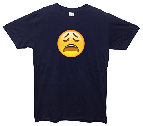 Weary Face Emoji T-Shirt Marine