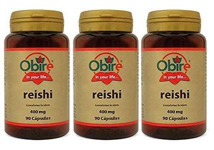Reishi 90 cápsulas de 400 mg de Obire. (Pack 3u.)