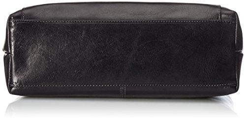 CTM bag Woman Hand, Schultaschen Frau, 32x24x13cm, echtes Leder 100% Made in Italy Schwarz (Nero)