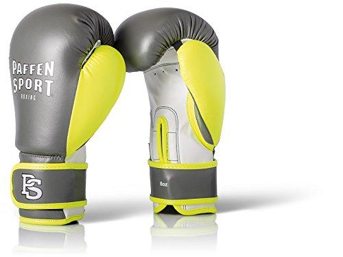 Paffen Sport Kids Boxhandschuhe für das Training - grau/Neongelb/weiß - 8UZ