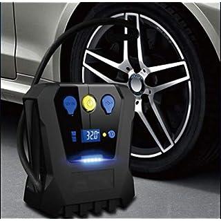 LGZOOT Luftkompressor Auto-Pumpen-Fahrzeug-LED-Anzeige 180W Tragbare Digital Dc 12V FüR Auto-MotorräDer