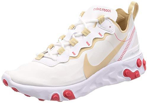 Damen Element (Nike Damen W React Element 55 Leichtathletikschuhe, Mehrfarbig Desert Ore/White/Ember Glow 000, 38.5 EU)
