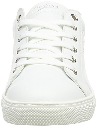 Dockers by Gerli 38pd204-610, Sneaker Basse Donna Bianco (Weiß (weiss/silber 591))