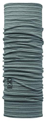 Buff Lightweight Merino Wool Multifunktionstuch, Light Grey Stripes, One Size