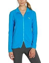 Puma Track Sweat de golf zippé sans couture pour femme Bleu Bleu