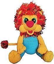 Leone peluche giocattolo crochet Archibald