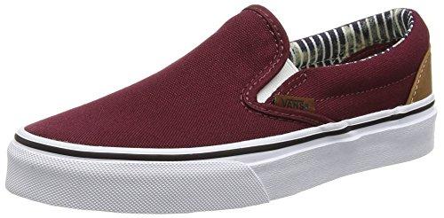 Vans Unisex Erwachsene Classic Slip-On Sneakers Rot (c&l/port Royale/stripe Denim)