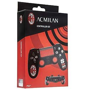 Cidiverte Controller Kit AC Milan 2.0 Gaming Controller Case - Accesorios de Controlador de Juego (Gaming Controller Case, Playstation 4, Negro, Rojo, Silicona, Sony, Caja)