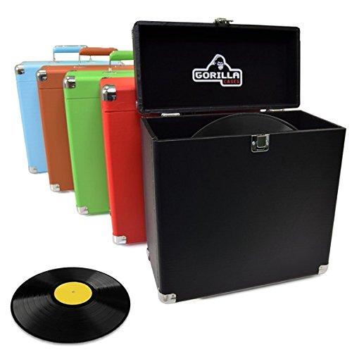 Gorilla lp-45Retro Stil 30,5cm Vinyl Record Schutz Carry Storage Case Box (Handy Box rot) - Vinyl-storage