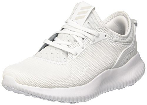 adidas Damen Alphabounce Lux Laufschuhe, Grau (Grey One/Footwear White/Core Black), 42 2/3 EU (White Lux Schuhe)