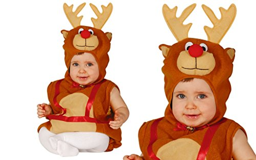 Costume da renna bambino 6-12 mesi
