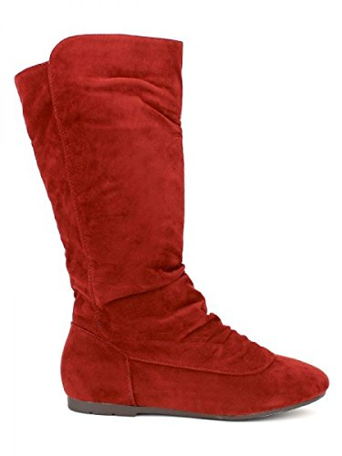 Cendriyon, Botte feutrine Rouge DOILYS Chaussures Femme Rouge