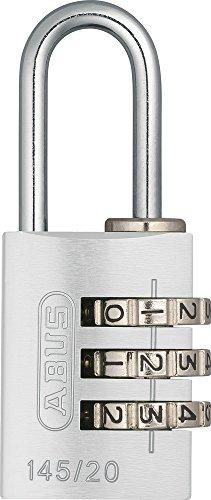 ABUS Aluminium-Zahlenschloss 145/20, silber, 46611 -