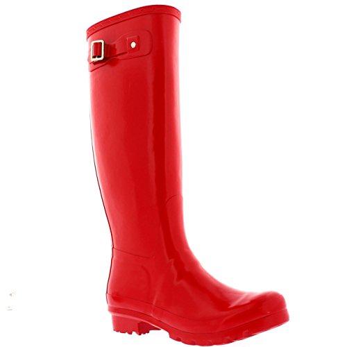 Mujer Original Tall Gloss Invierno Impermeable Lluvia Botas De Goma - Rojo - 41