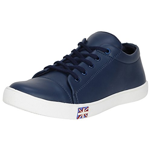 Kraasa Men's Blue Synthetic Leather Sneakers…, INR 1,299.00