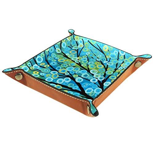 DragonSwordlinsu Aufbewahrungsbox für abstrakte Kunst, Würfel, Korb, Behälter für Büro und Zuhause, Multi, 20.5x20.5cm -