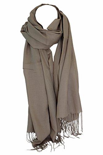 Bullahshah Ebene super weiche Gefühl der Qualitäts aus ägyptischer Baumwolle Schal-Schal-Stola-Verpackung Hijab Kopftuch (Mokka)