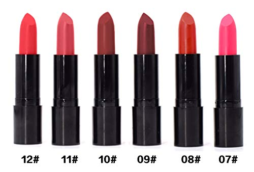 AYA Matte Lipstick (Set of 6) pink, red, brown shades #7 to 12