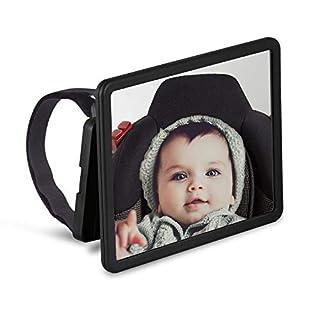 Wicked Chili Baby Auto Spiegel XXL Easy View Rückspiegel - Baby KFZ Sicherheitsspiegel für Reboarder, Babyschale und Kindersitz (Bruchsicher, groß, drehbar, neigbar)